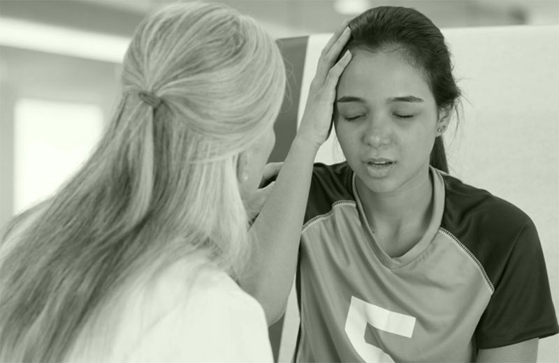athlete post concussion examination