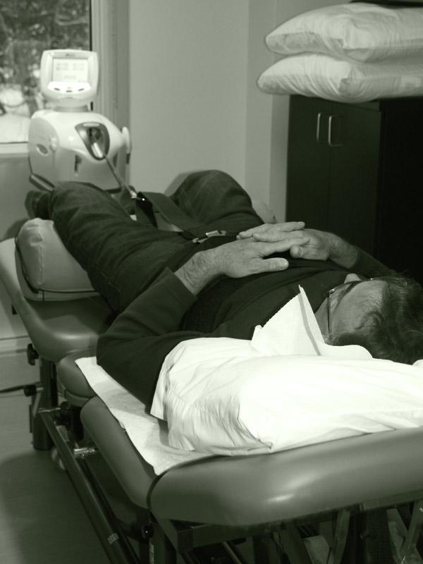 spinal adjustment lumbar traction machine